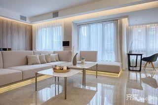 120平现代简约三居客厅装修设计图