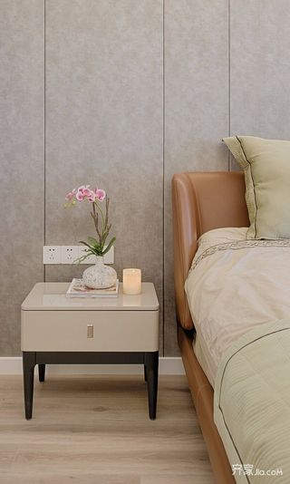 120平现代简约三居装修床头柜设计图