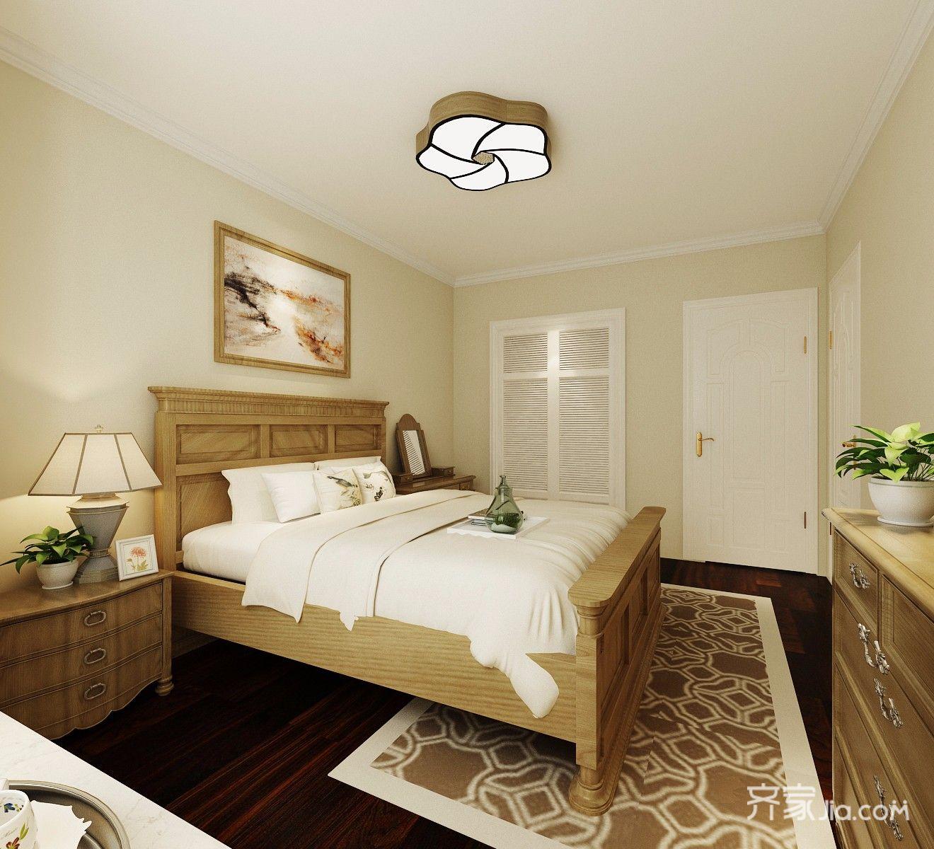 温馨美式卧室装修效果图