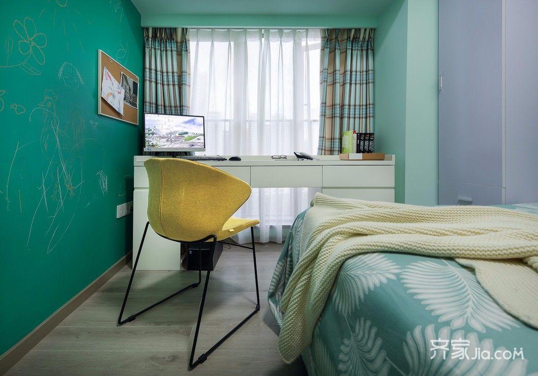 89㎡简约风格三居装修书桌设计图