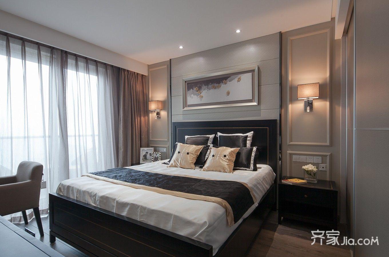 95平现代简约两居卧室装修效果图