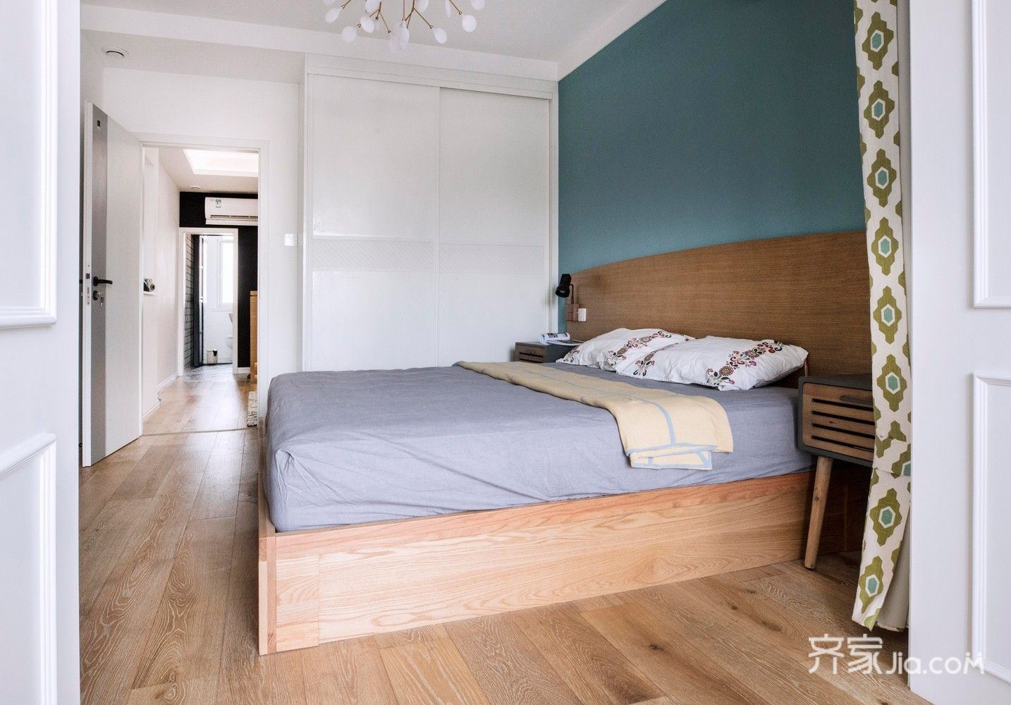 小户型北欧二居室卧室装修设计图