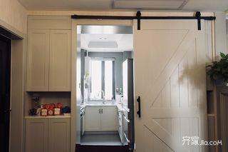90㎡美式风格二居厨房装修效果图