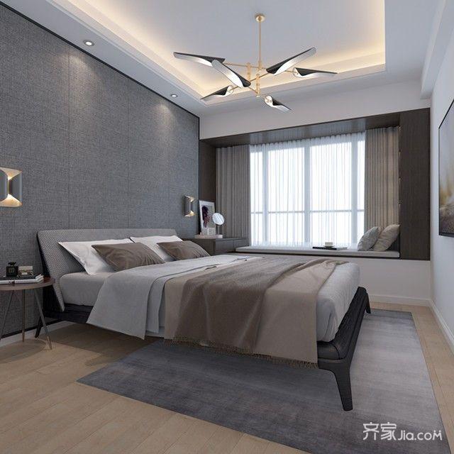 89㎡混搭风格两居卧室装修效果图