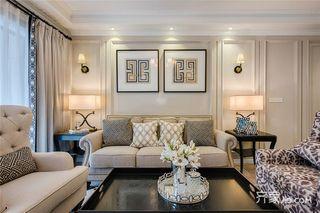 125平美式风格三居装修效果图