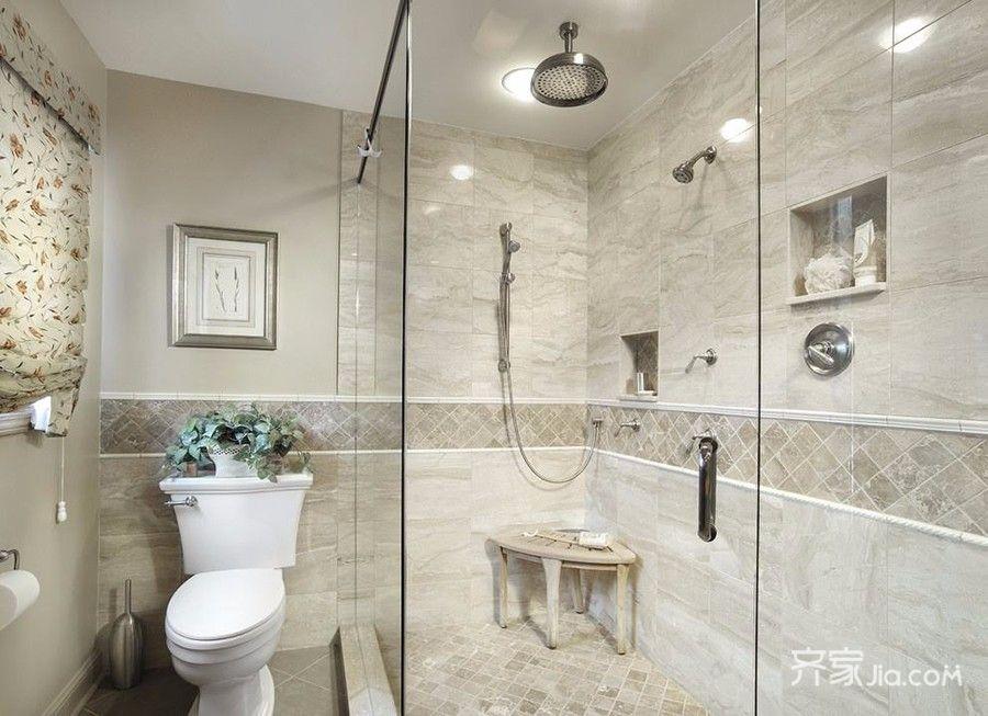 85㎡现代风格两居卫生间装修效果图