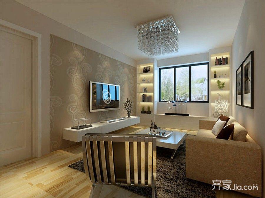 85㎡现代风格两居客厅装修效果图