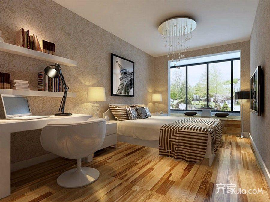 85㎡现代风格两居卧室装修效果图