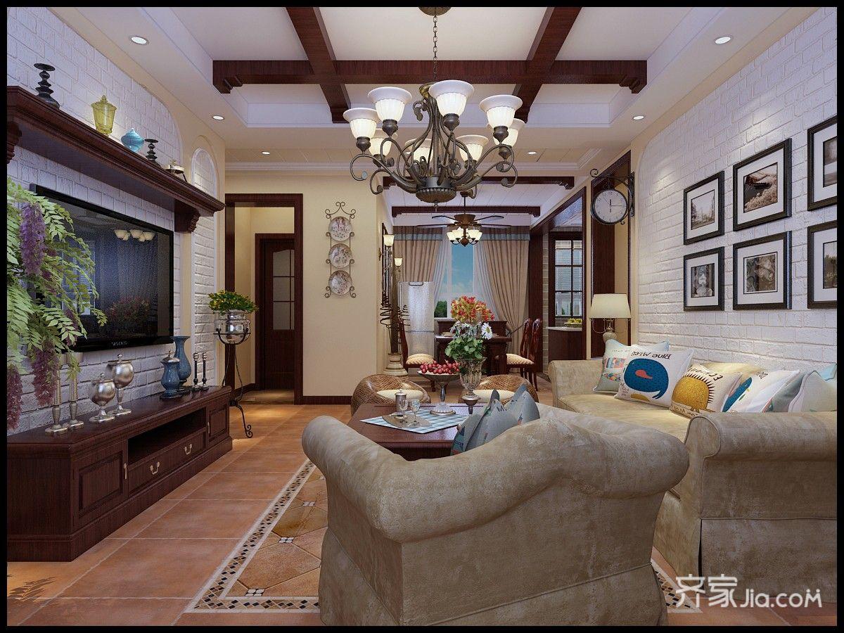 150平米美式三居客厅装修效果图