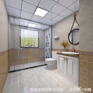大户型现代美式别墅卫生间装修效果图