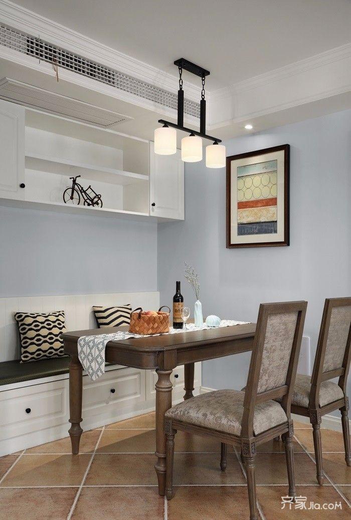 126平美式风格三居餐厅装修效果图