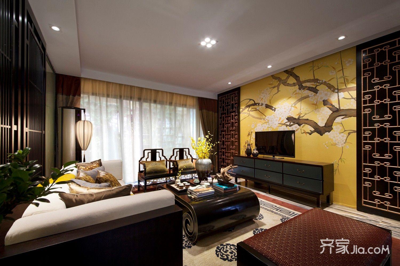 新中式风格两居室客厅装修效果图