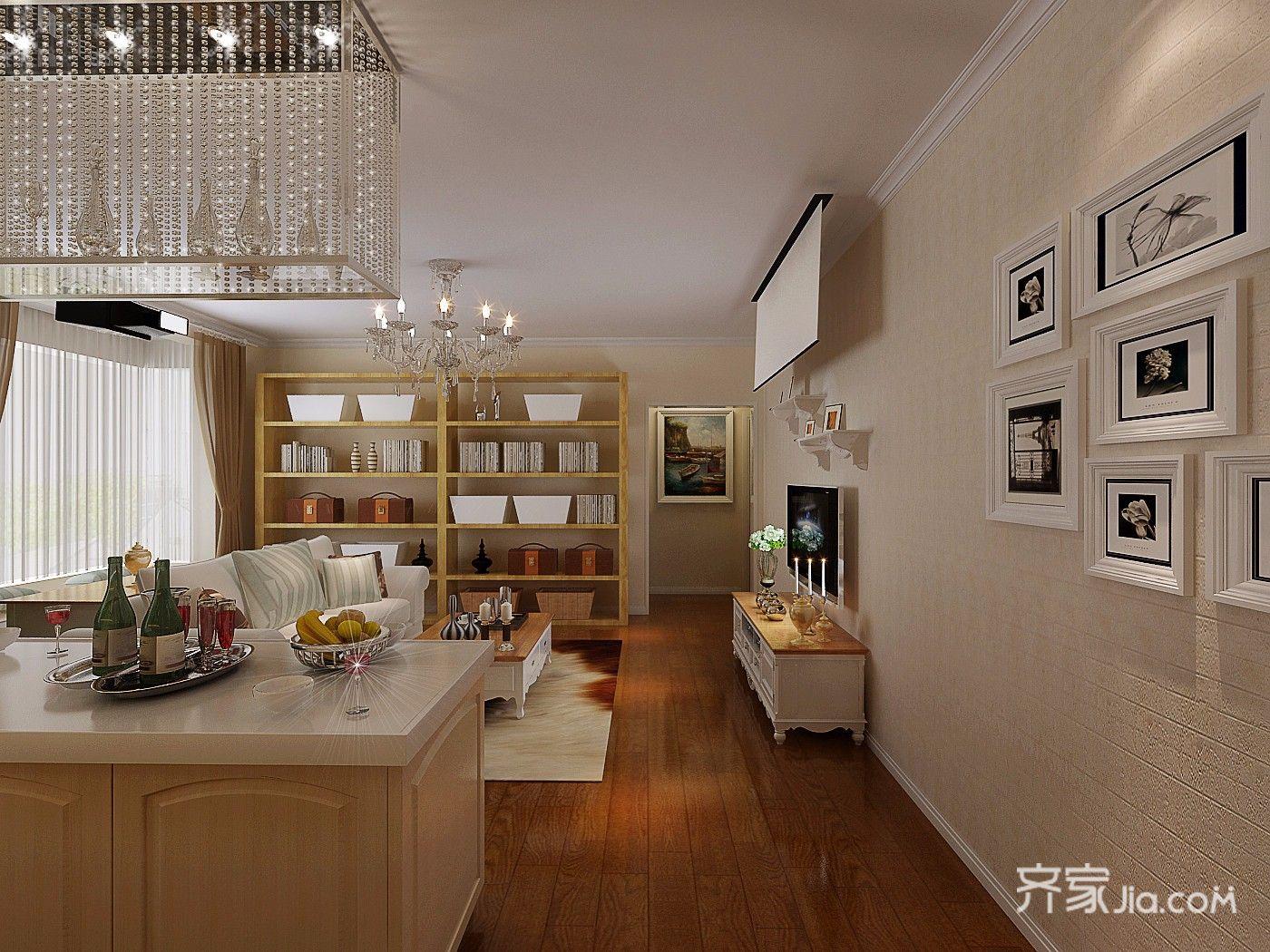 小户型简欧风格两居客厅装修效果图
