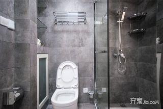 89平美式三居室装修淋浴房设计图