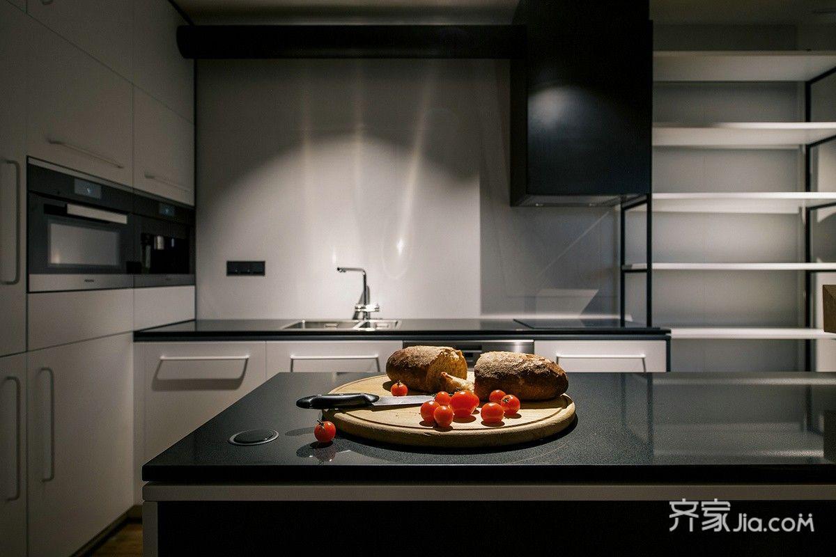 轻工业风格公寓厨房装修效果图