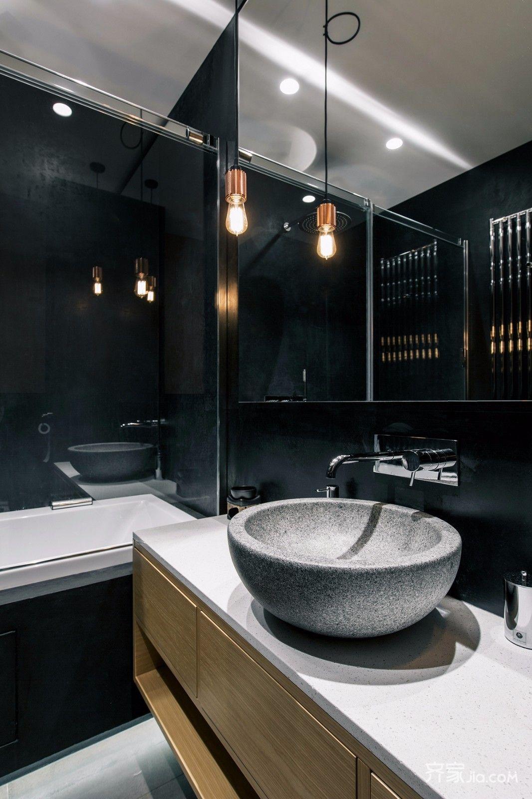 轻工业风格公寓卫生间装修效果图