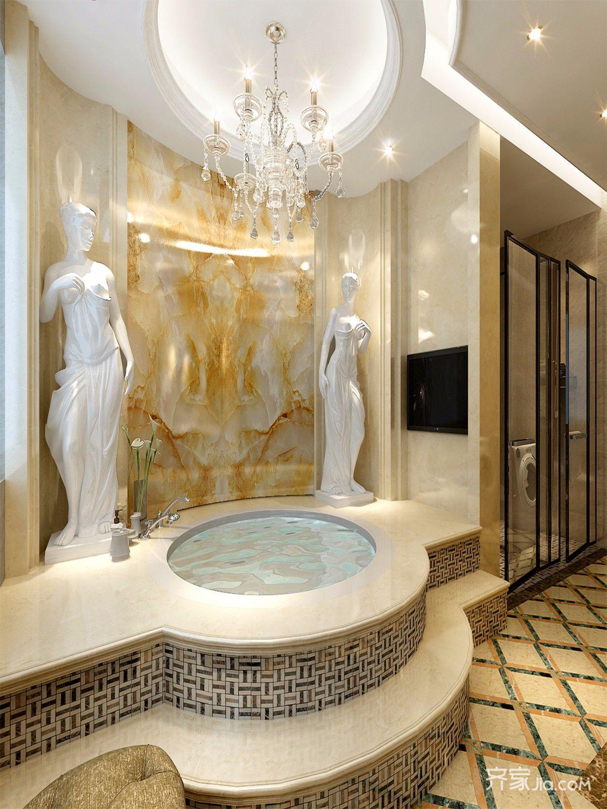 360平欧式风格别墅卫生间装修效果图