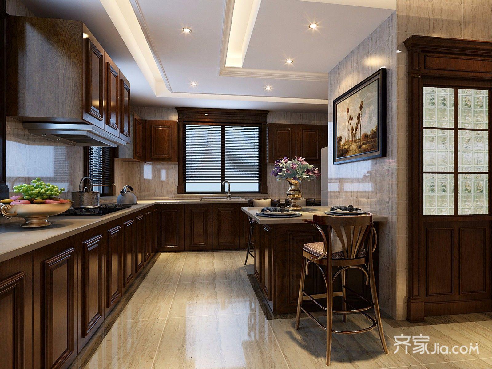 360平欧式风格别墅厨房装修效果图