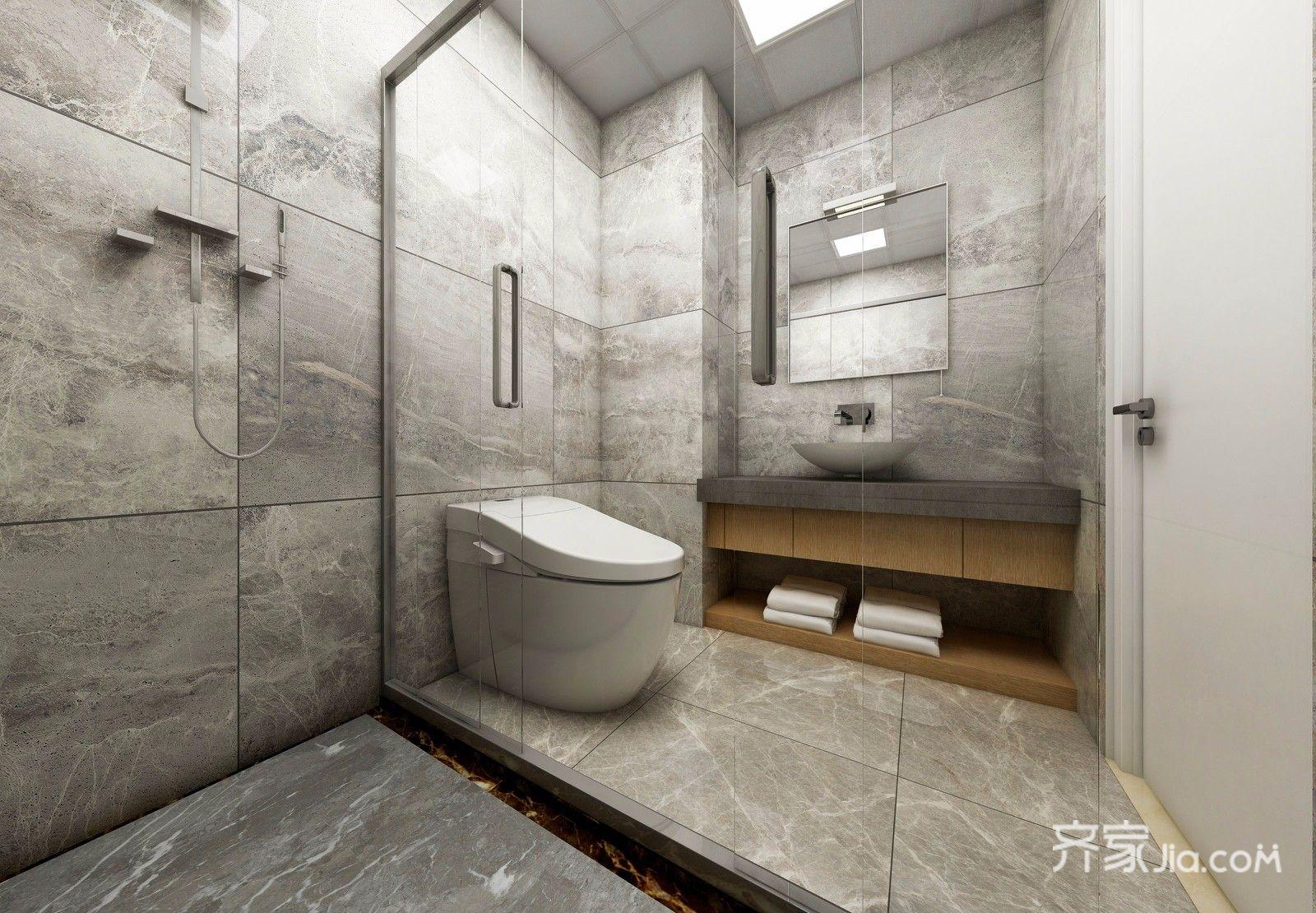 75平现代风格两居卫生间装修效果图