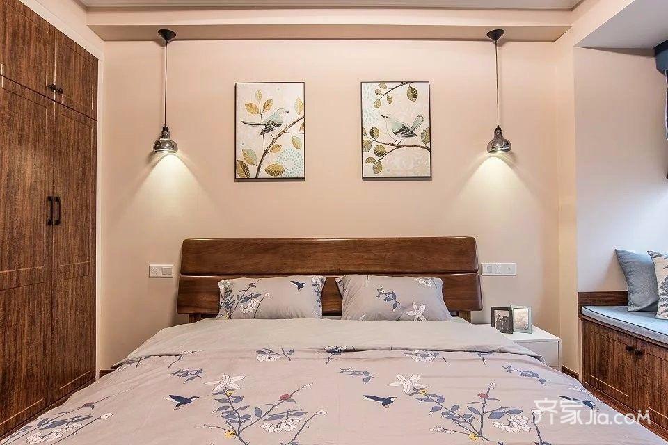 110平简美风格三居卧室装修效果图