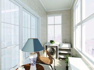 109平美式风格三居阳台装修效果图