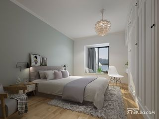 大户型北欧风格卧室装修效果图