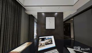 现代简约低奢三居书房装修效果图