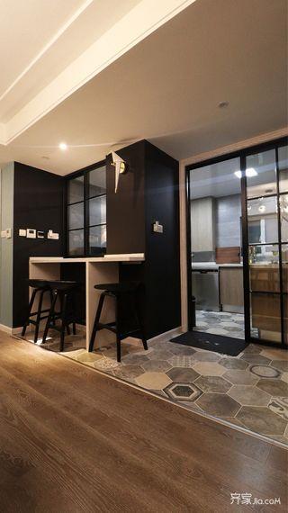 160平简约风格三居装修吧台设计图