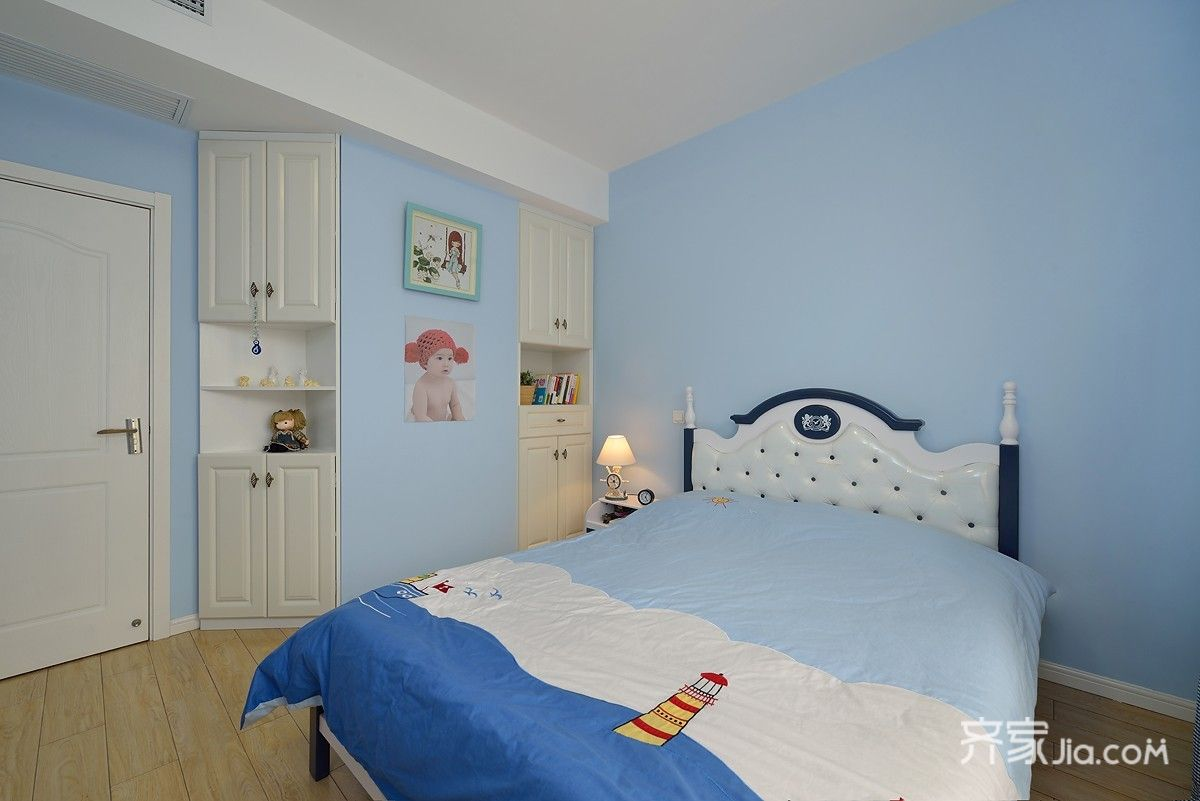 现代简约风格复式装修卧室效果图