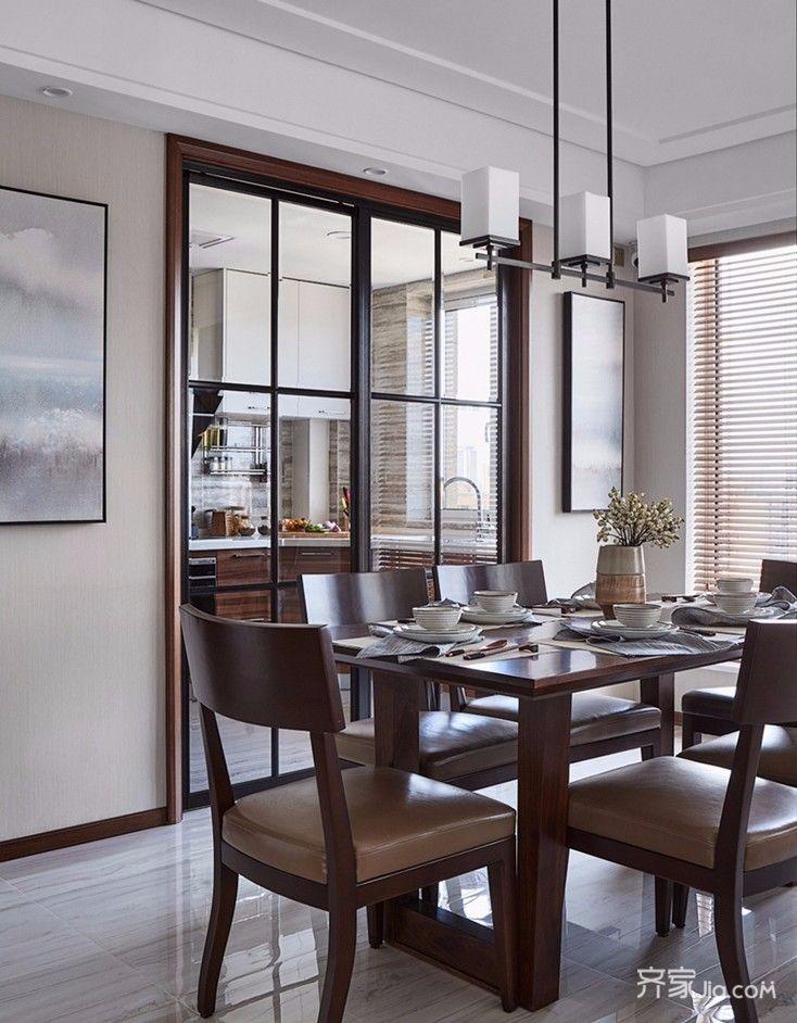现代中式风格四居室餐厅装修效果图