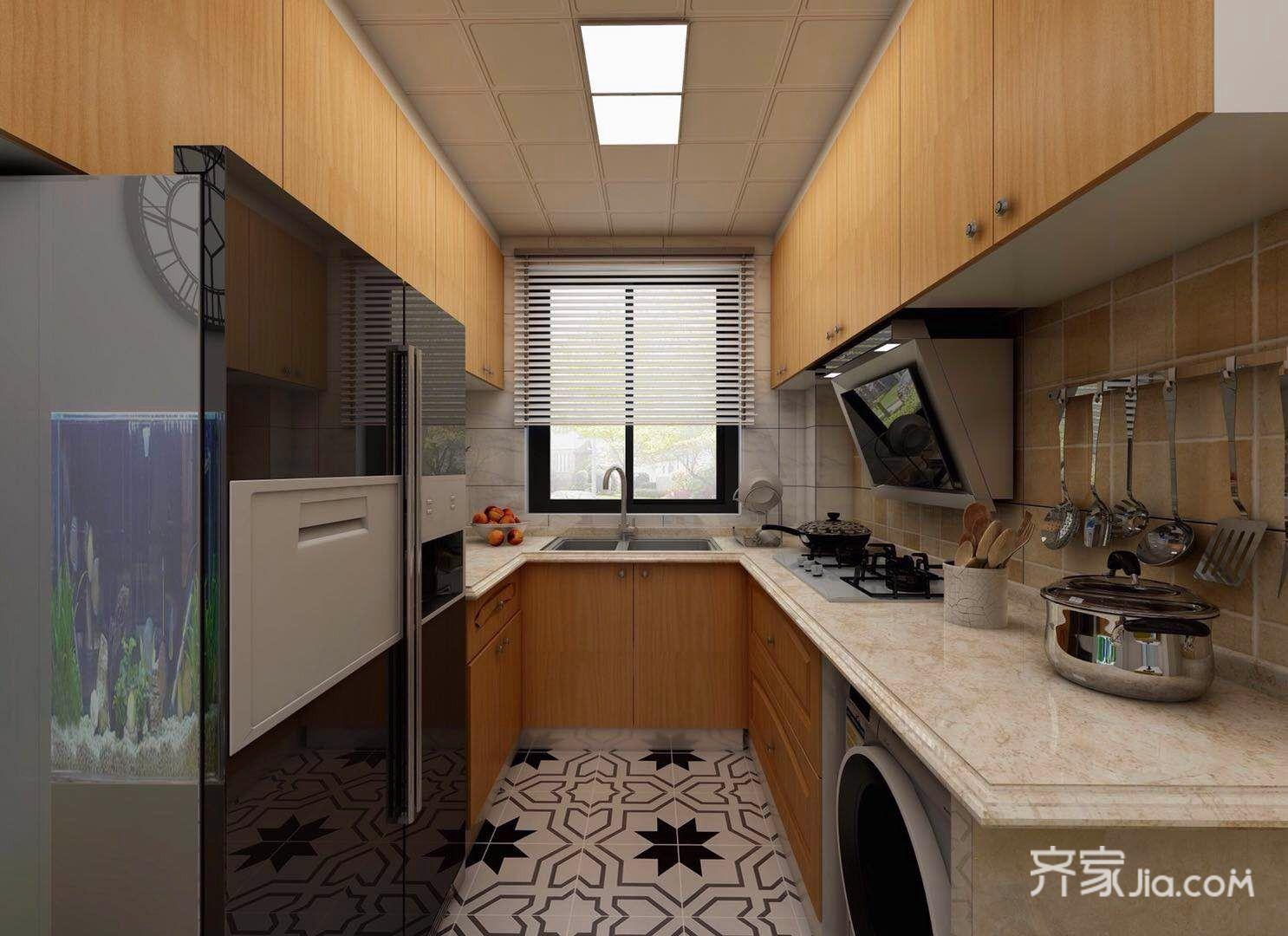 小户型北欧风两居厨房装修效果图