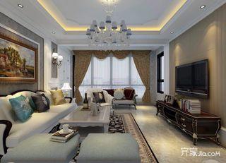 103平欧式风格三居装修效果图