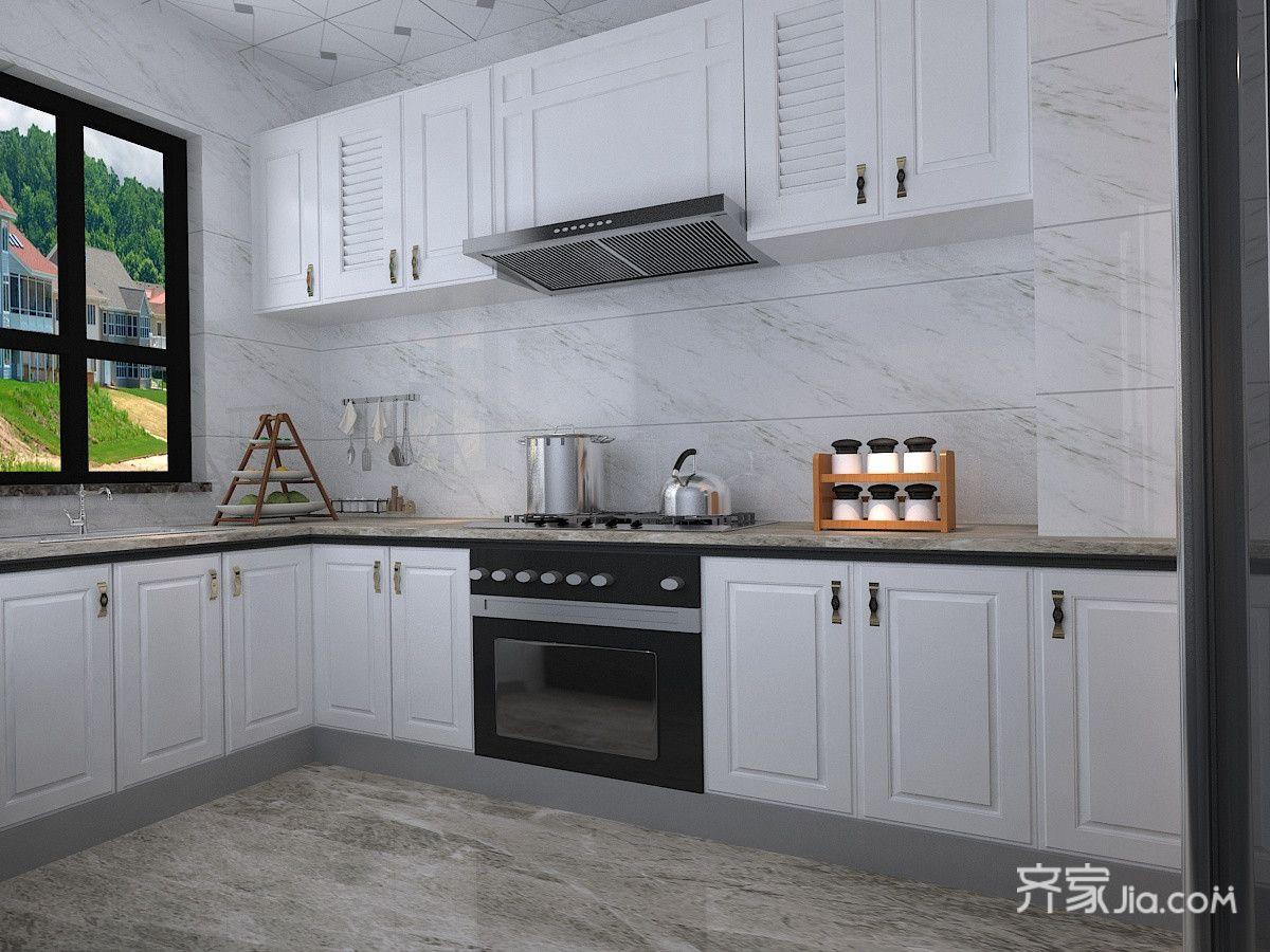 90平米简约风两居厨房装修效果图