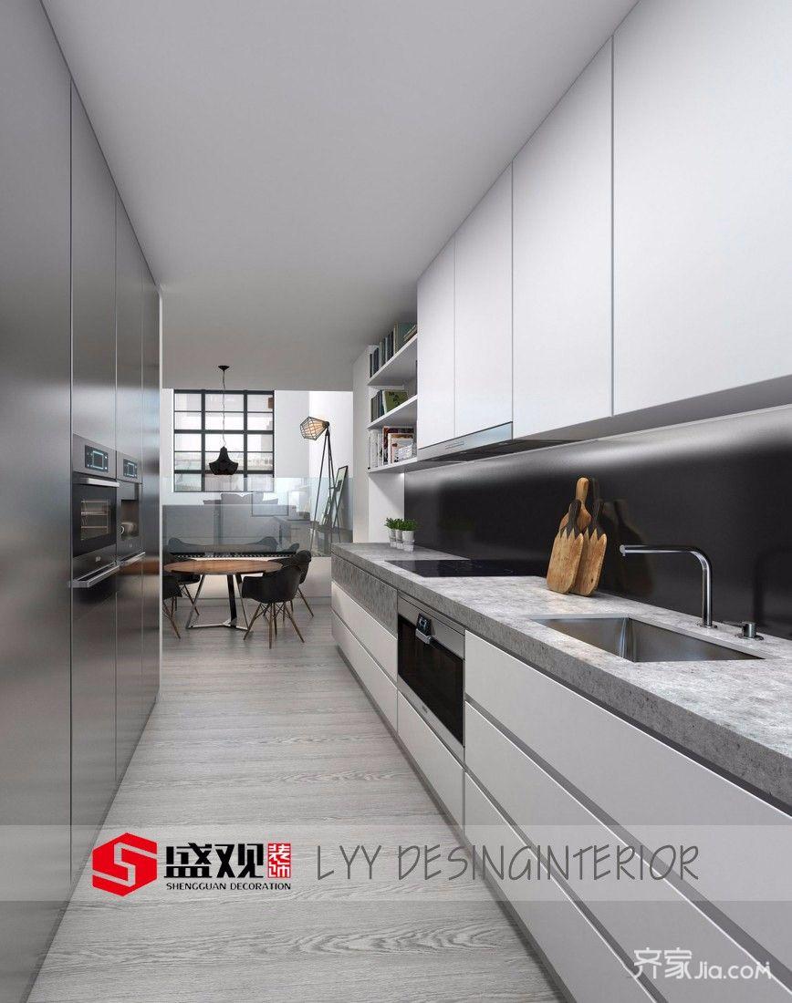 89平混搭风格二居厨房装修效果图