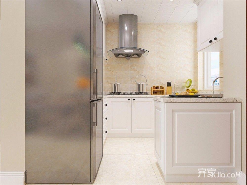 80㎡现代简约三居厨房装修效果图