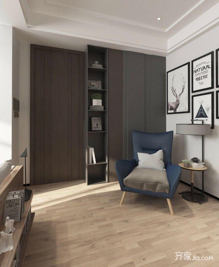 小户型现代简约二居装修玄关休闲一角