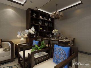 86平中式风格两居餐厅装修效果图