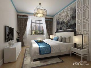小户型中式风两居卧室装修效果图