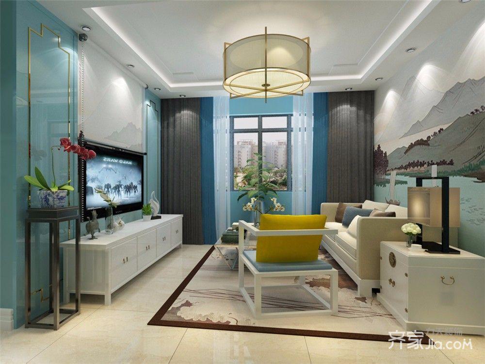 小户型中式风两居客厅装修效果图