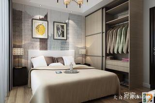 高级灰现代简约风卧室装修搭配图