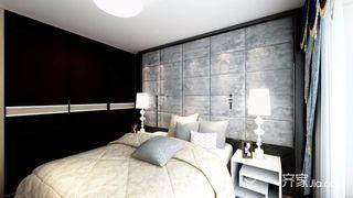 150㎡现代简约三居装修床头软包设计图
