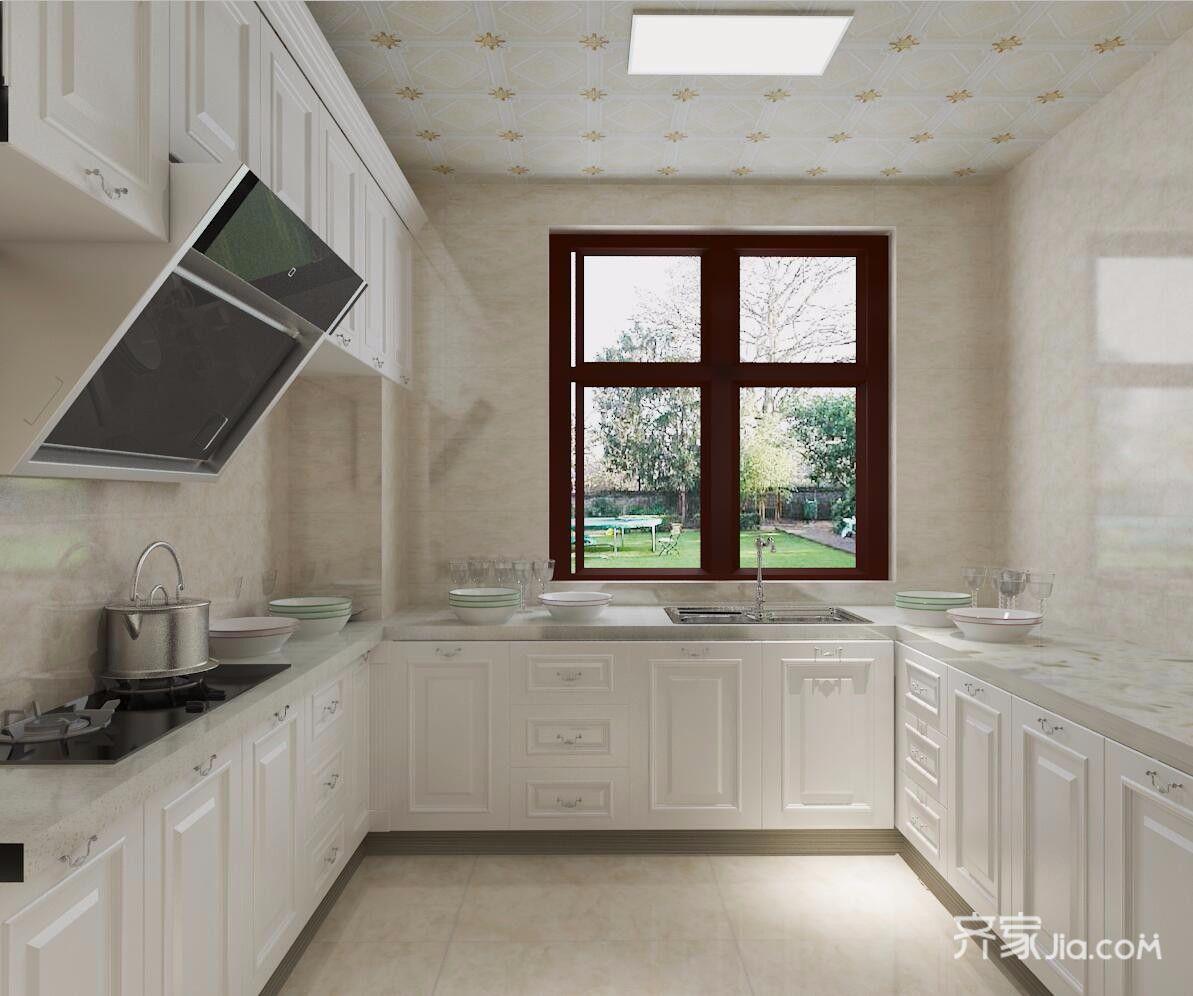 110平三居现代简约厨房装修效果图