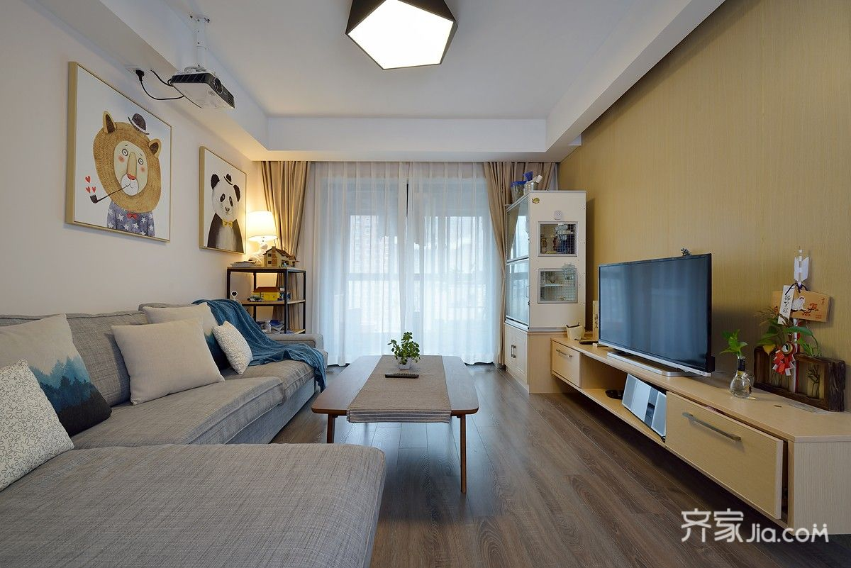 简约风格两居室装修设计效果图