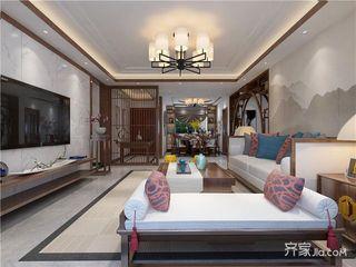 135㎡中式风格三居装修效果图