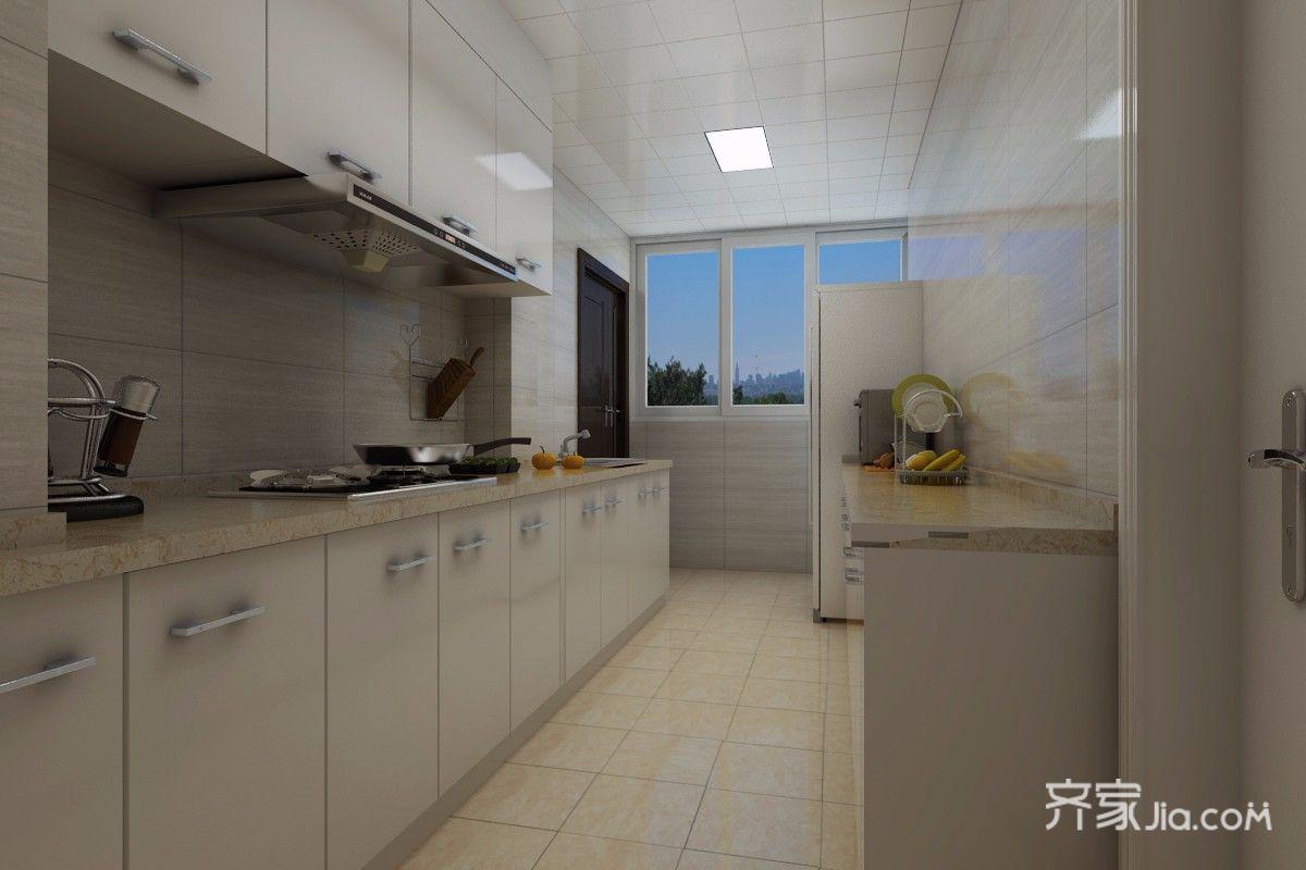138平混搭风格三居厨房装修效果图