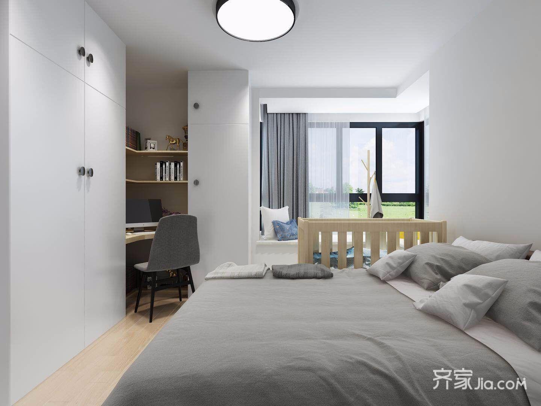 70㎡简约风格两居卧室装修效果图
