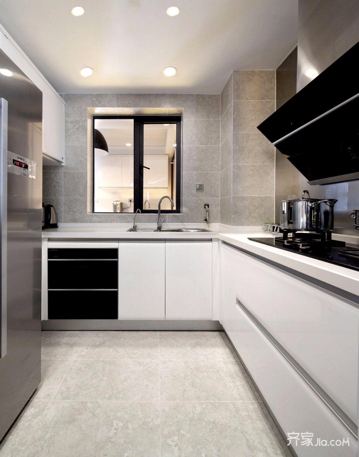 现代简约大户型厨房装修效果图