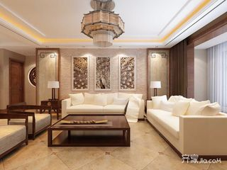 110㎡新中式二居装修效果图