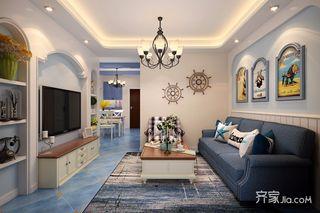 78平地中海风格二居装修效果图