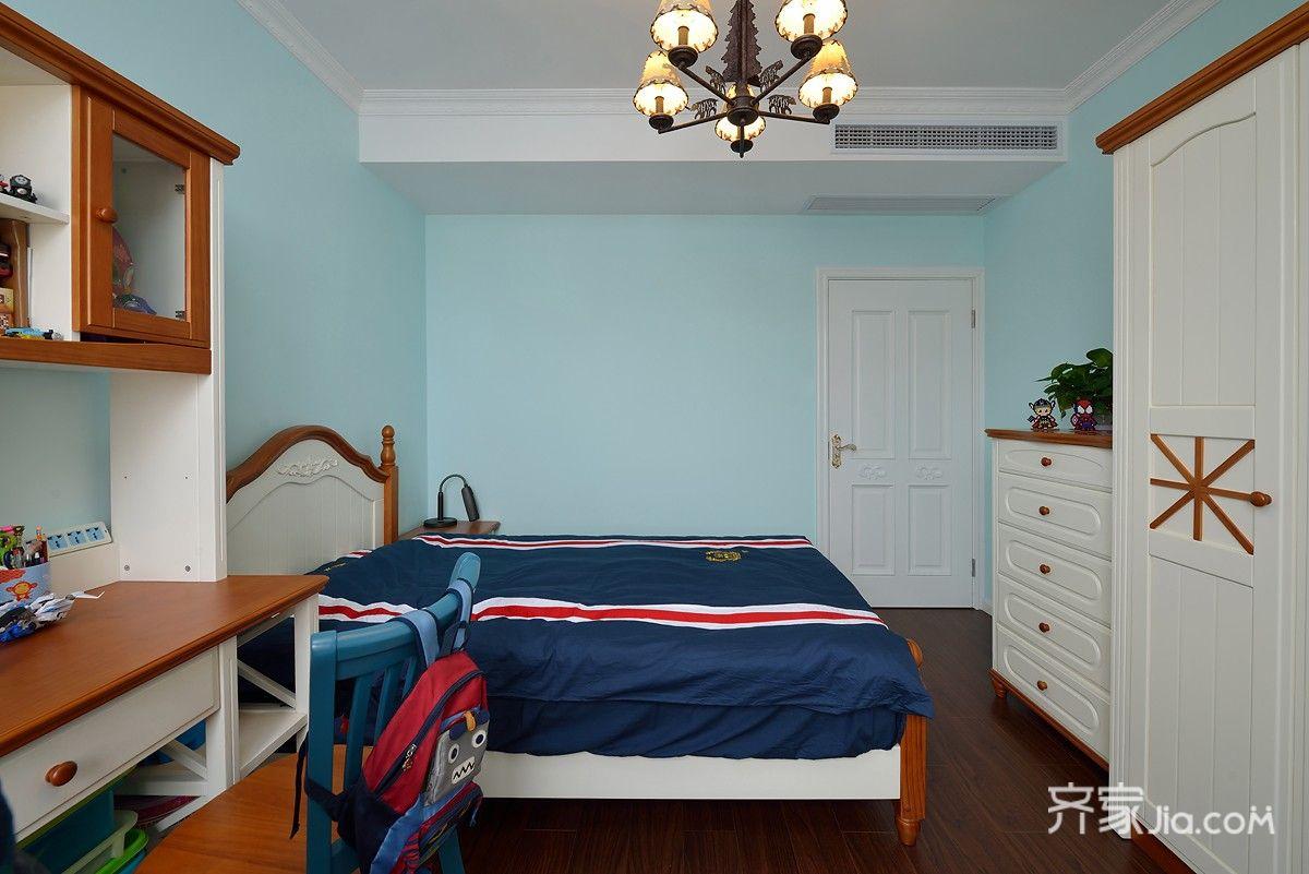 160㎡欧式风格三居装修书桌设计图